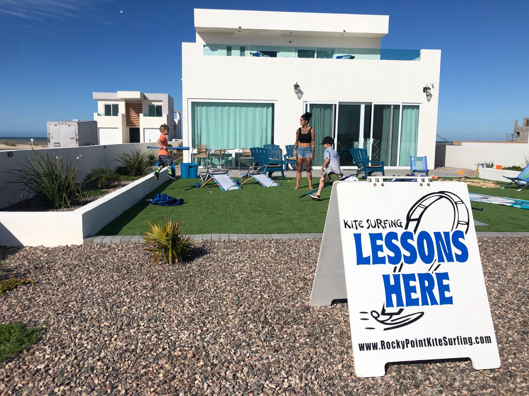 kitesurfing lessons Sea of Cortez, in Puerto Penasco